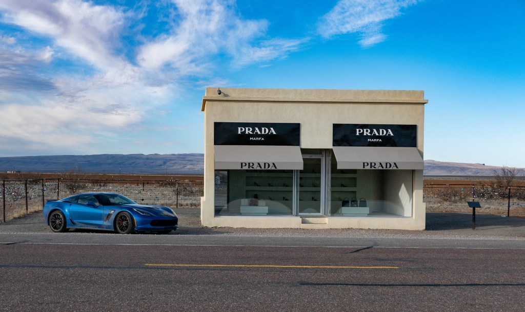 Corvette Z06 at the Prada Marfa art installation