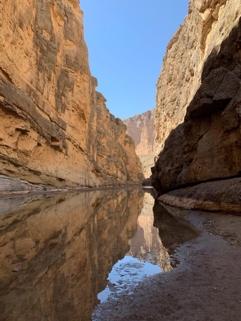 Saint Elena Canyon reflection