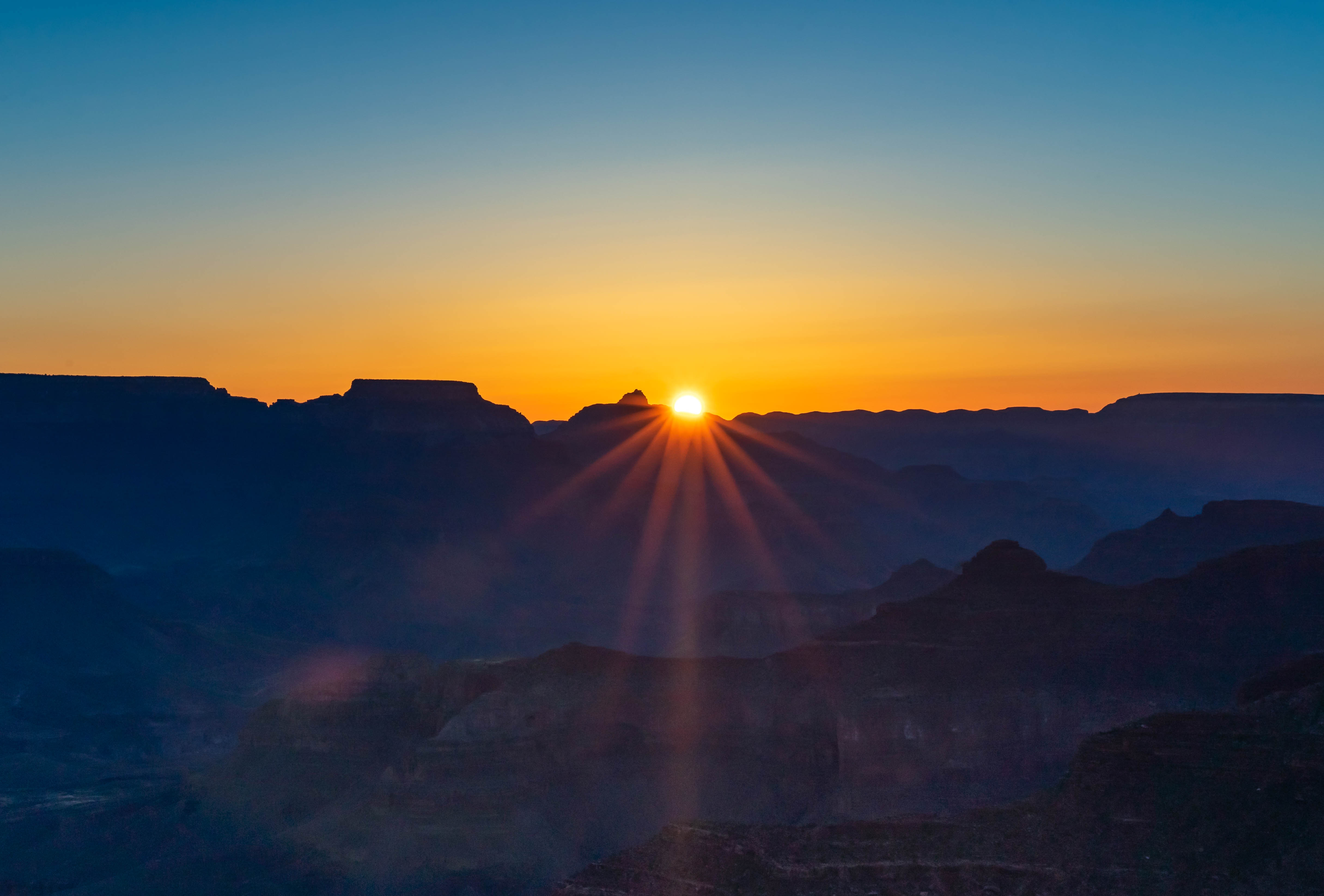 Sunrise over the Grand Canyon from Powell Point
