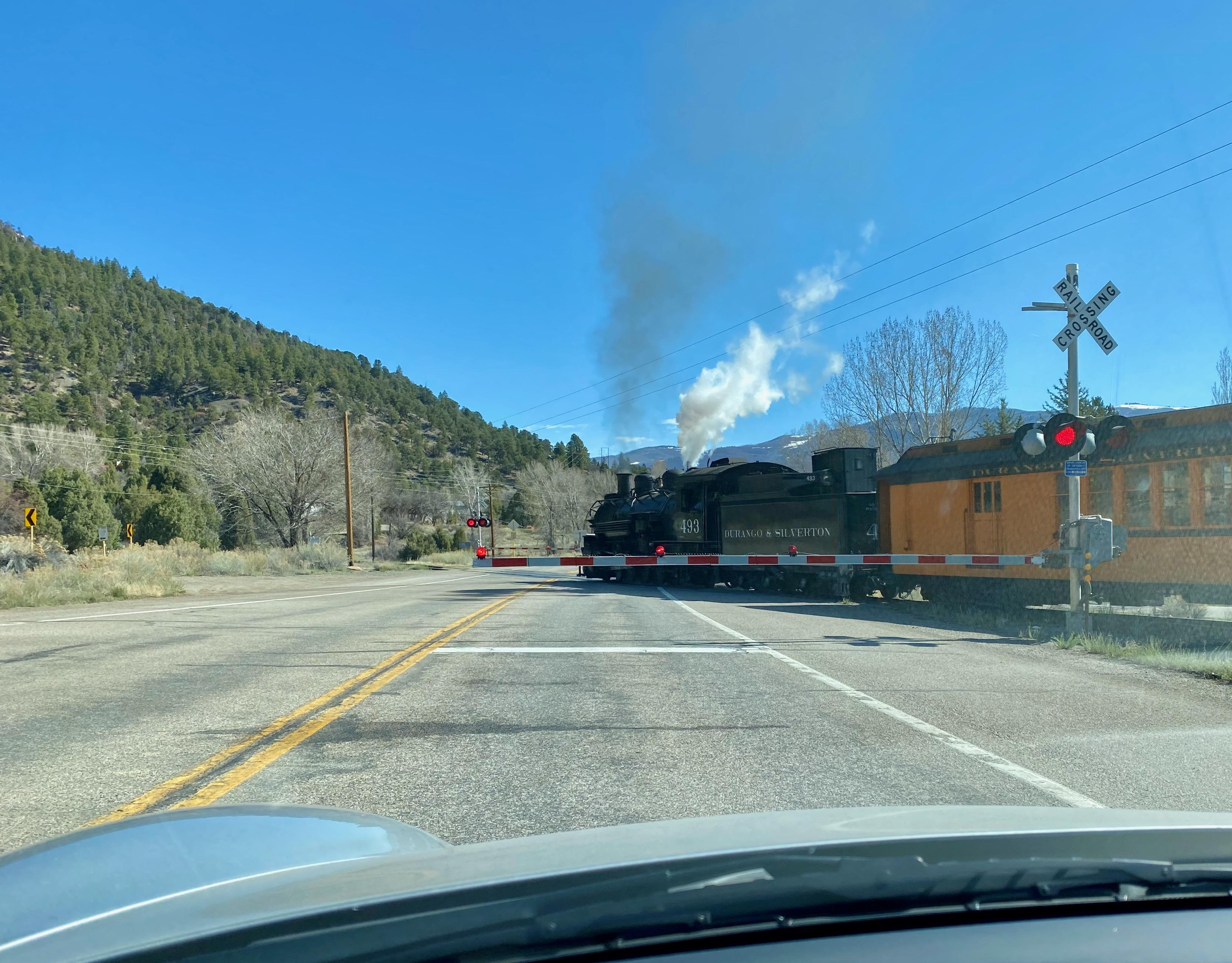 the Durango to Silverton train