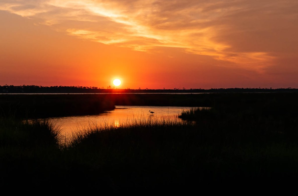 Sunrise over Shelby Lakes at Gulf State Park, AL