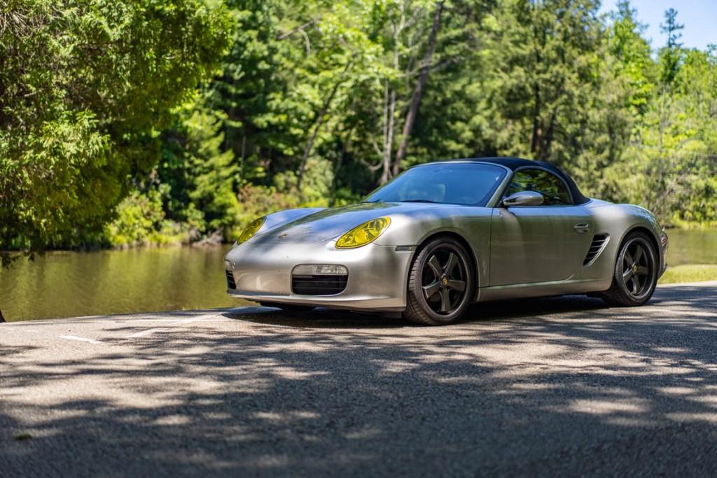 Porsche Boxster by a river