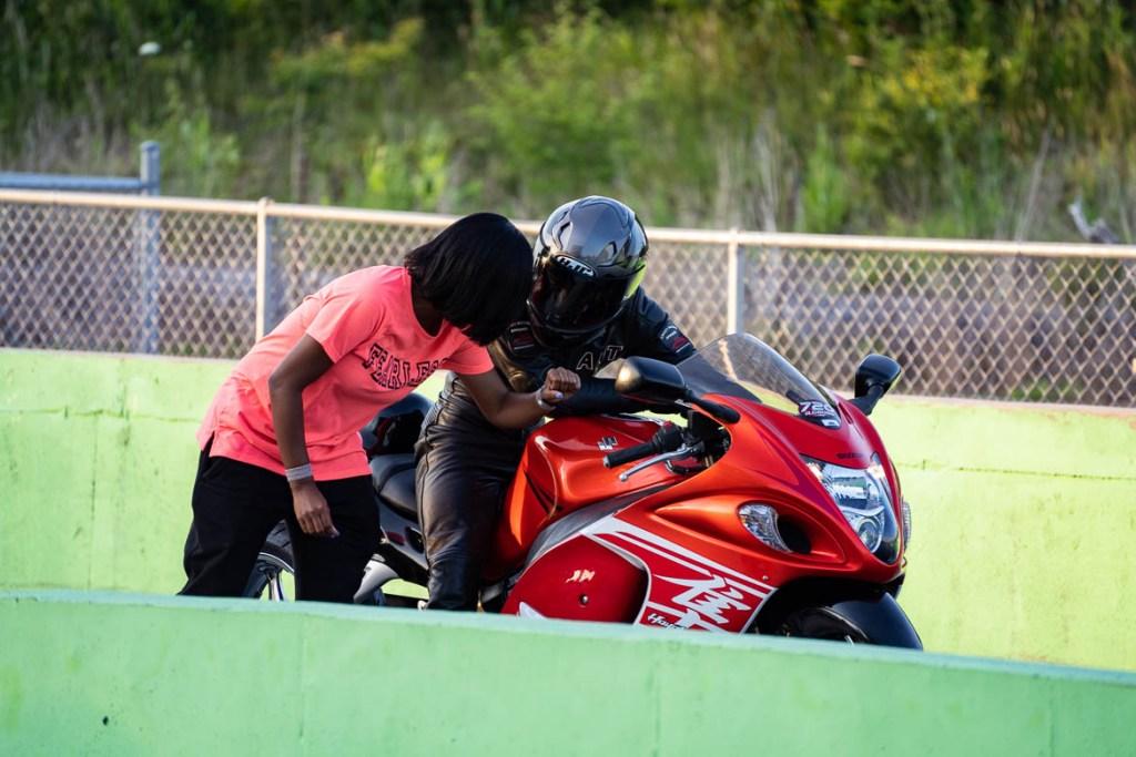 Motorcycle drag racing at Crossville Dragway