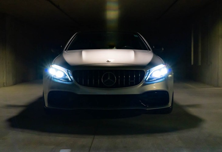 Front view of Mercedes C63 AMG